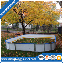 HDPE synthetic ice rink hockey dasher board/ice hot sale puck shooting sheet/rink fence manufacturer