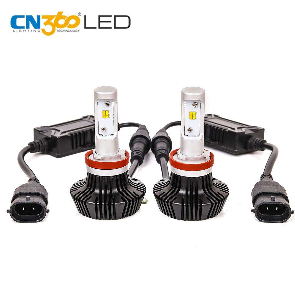 Lámpara auto H11 2200 K 6000 K 24 W 2400lm doble color coche LED faro bombilla para el coche