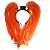 Glow In The Dark Led Light Up Led Noodle Wig Head Boppe For Party Decoration Led Flashing Noodle Microfiber Tube Head