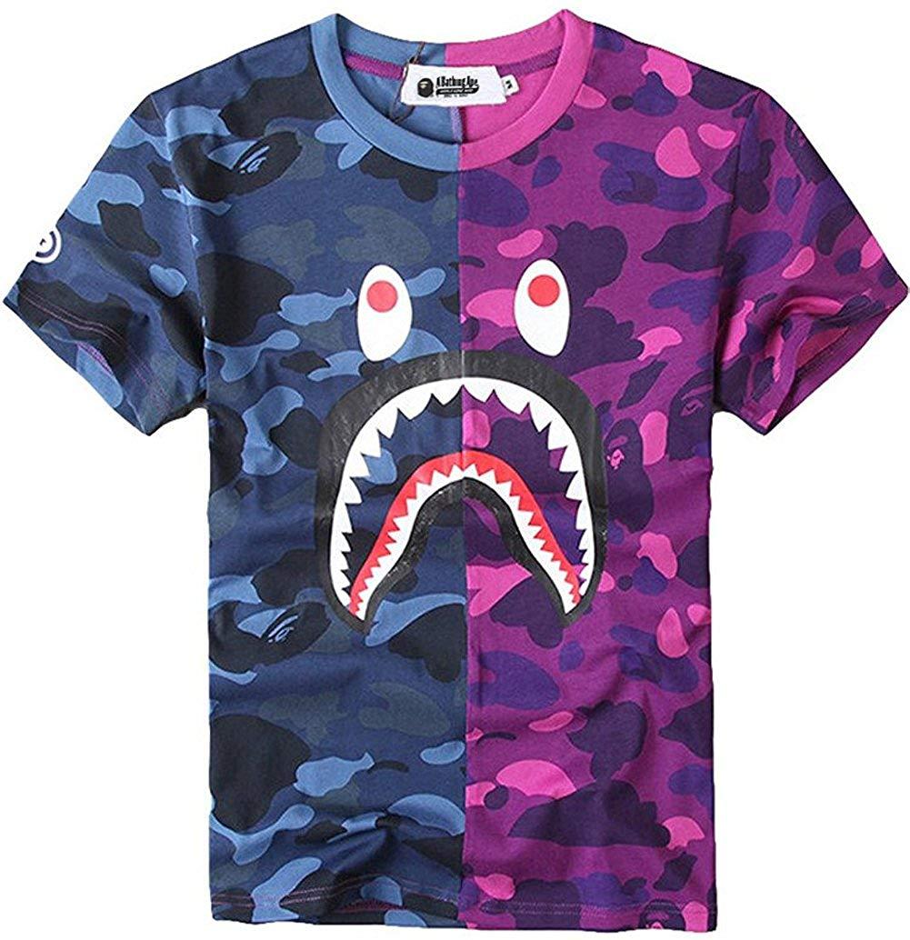 5d8d53b6bd61 Get quotations juniors casual fashion crewneck shirt shark camo tees tops  for teens jpg 1001x1034 Pink