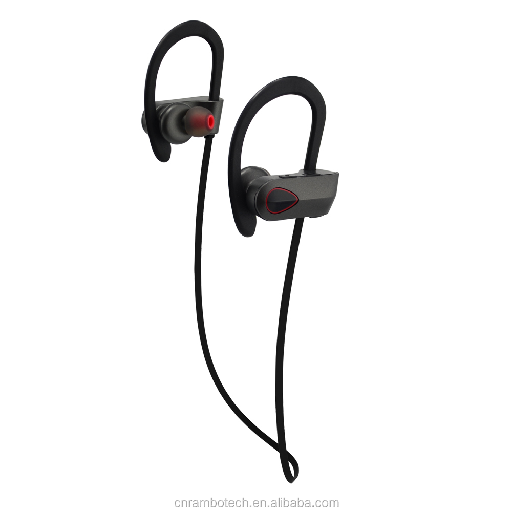 New best-selling super bass swimming waterproof bluetooth headphone, soft rubber ear-hook
