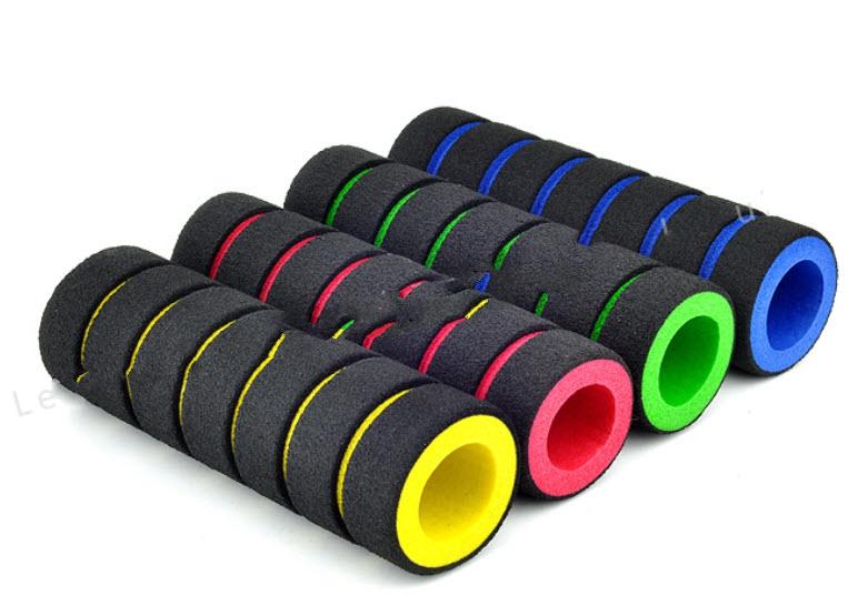 2PC Racing Bike Bicycle Slip-Proof Handle Bar Foam Sponge Nonslip Grip Cover