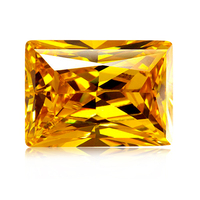 High Quality Synthetic cz Stone Rectangle Best Yellow Cubic Zirconia loose stones