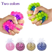 Anti Stress Face Reliever Squishy Mesh Grape vent Ball Autism Mood Healthy Bubble LED Squeeze Relief ADHD Toys Pressure Gifts