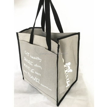 43e7397c3 Fancy Quality Sturdy Heavyweight Jumbo Cotton Canvas Grocery Tote Promotion  Bag