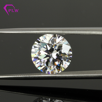 wholesale AAAAA Quality White Round Synthetic Cubic Zirconia Stone