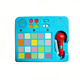Kids Plastic Musical Instruments Toy Electronic Touch Sound Button pad with Microphone