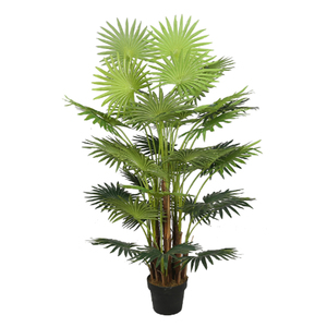 Wholesale Best Artificial Fan Palm Tree Outdoor Indoor Tropical Conservatory Office Garden Plant
