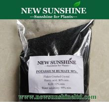 Water soluble potassium humate powder in organic fertilizer