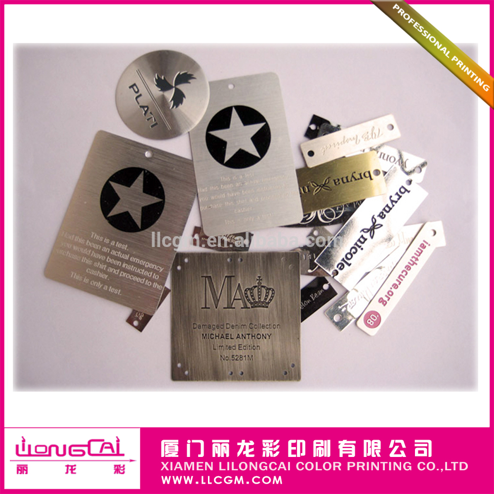 PVC METALLIC hangtag for cloth cosmetic commodity