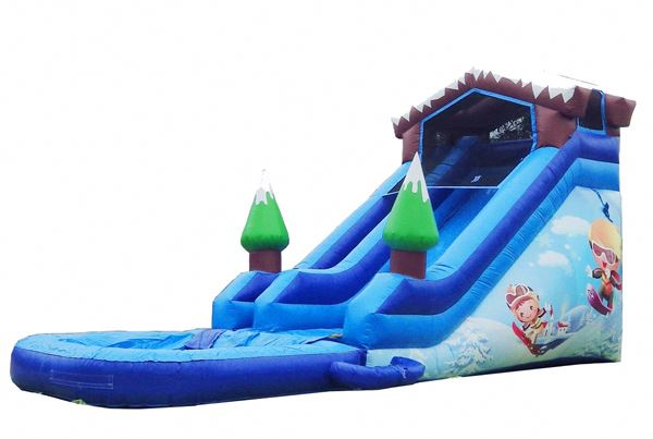 18FT SNOW RESORT SUPER WET DRY inflatable slides