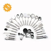 best selling products 2018 in usa in home 29 piece kitchen utensils set stainless steel