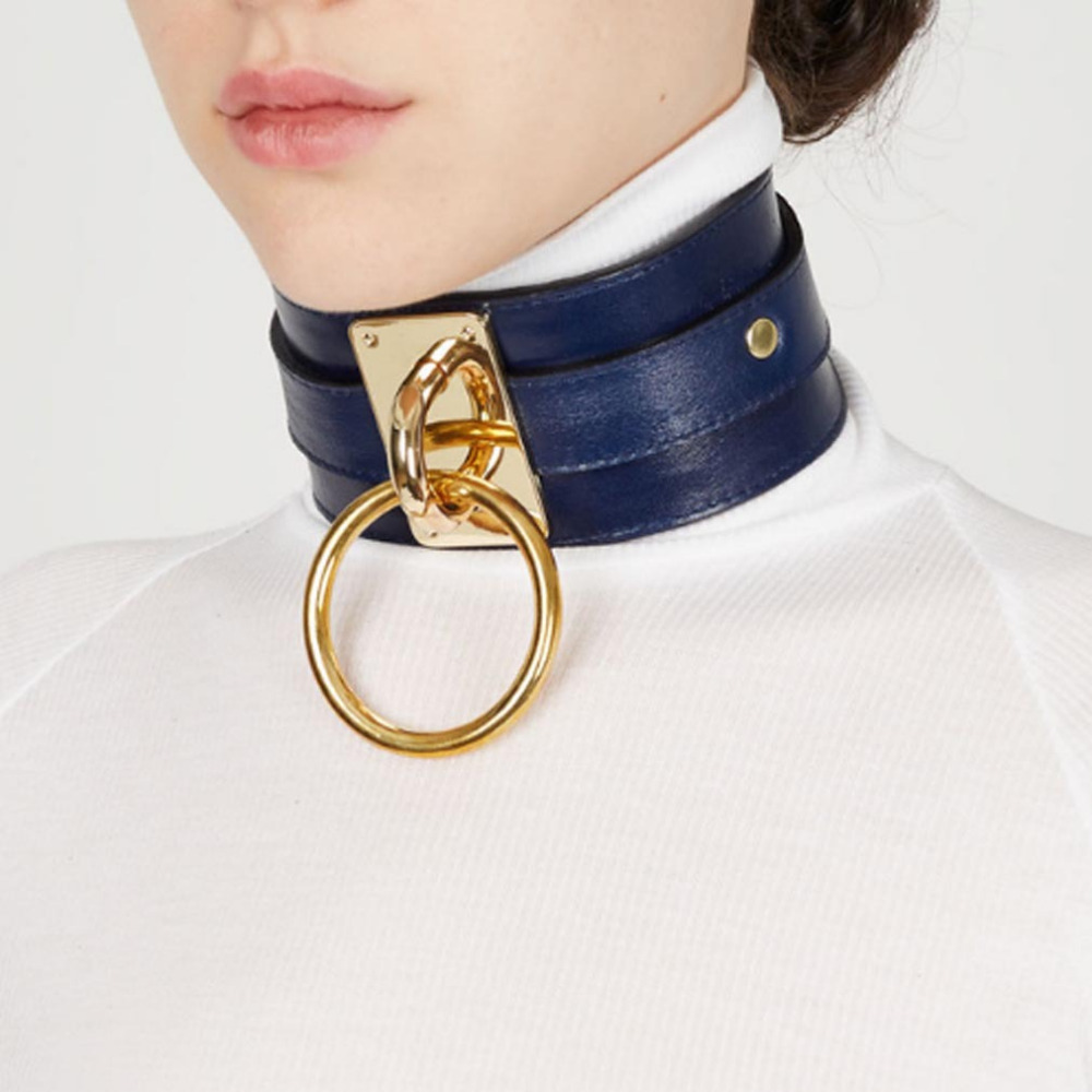0dac32c60db7e Punk Style Gold Ring Cool Sexy Choker Necklace With Gold Ring Silver Ring -  Buy Big Choker Necklace,Punk Rock Choker Necklace,Pull-tab Necklace ...