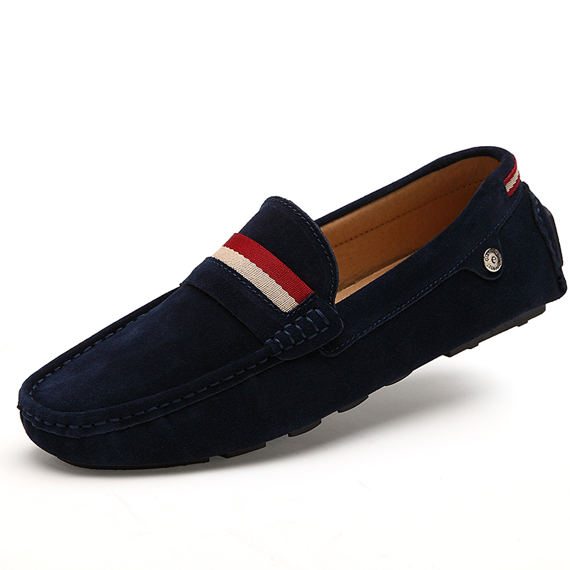 e95bf1d49ac Get Quotations · 2015 Men Loafers Moccasins Driving Shoes Men Flats Shoes  Genuine Leather Casual Shoes Blue Red Brown