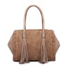 newest pictures lady fashion bags women handbags 2017 tassel tote bag pu