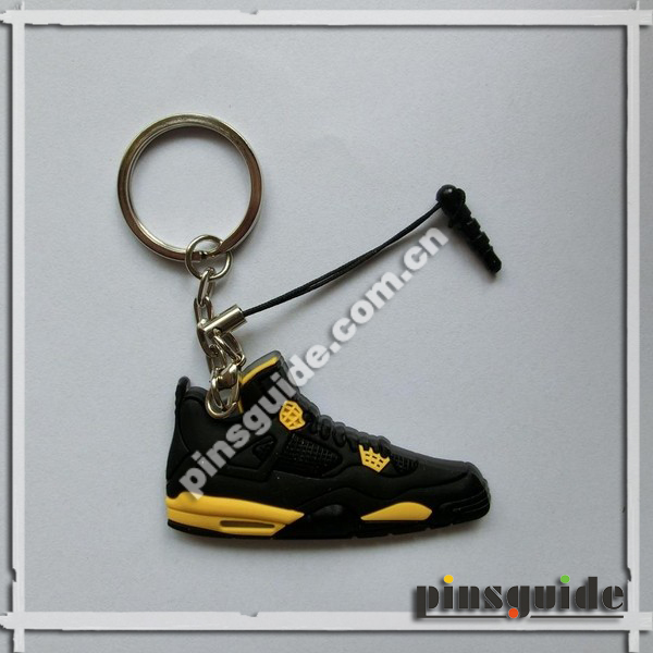 Manufacturer Practical PVC 3D Mini Air Jordan Sneaker Keychains For Promotional Gift