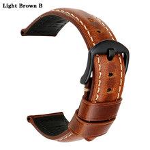 Аксессуары для часов MAIKES, винтажный коричневый ремешок для часов 18 мм-26 мм из кожи с масляным воском для samsung gear s3 Fossil(Китай)