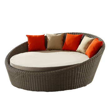 Merveilleux Outdoor Round Rattan Beach Sun Sofa Bed Rattan Outdoor Round Bed