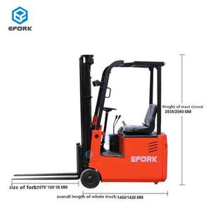 3 m Electric Forklift Track with Soft Seat
