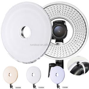 FALCON EYES DVR-300DVC 300 Ring LED Panel Light3000k-8000k Adjustable Color  Video Film Continuous Light for DSLR Photography