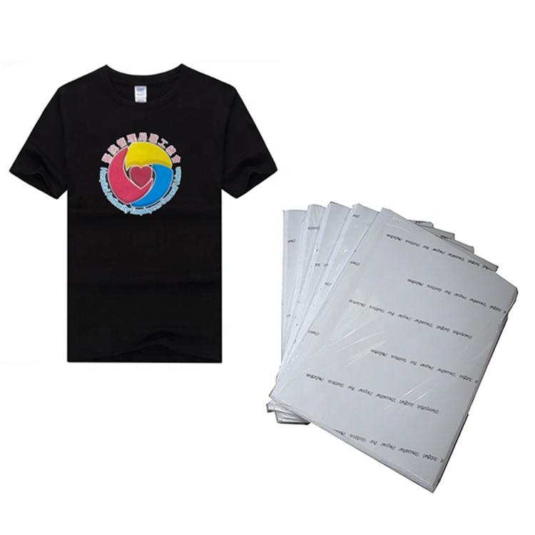 A3 Inkjet Iron On T Shirt Transfer Paper For Dark Fabrics 50 Sheets