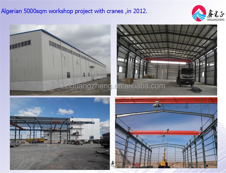 large span light steel structure prefabricated workshop in Thailand