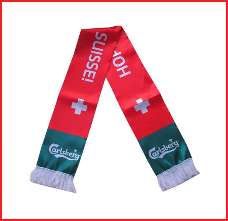 China factory supply mini banner custom print knitted football fan scarf
