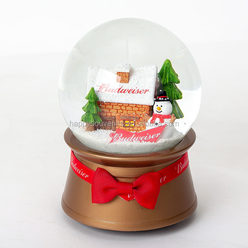 High Quality Custom Resin Christmas Decoration Snow Globe Kit Empty DIY Christmas Ball Hanging Ornament Glass Snow Globe