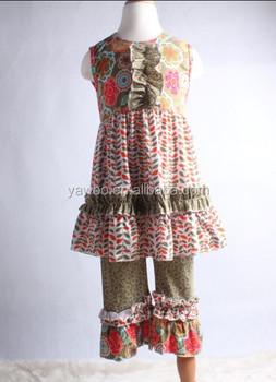 Modern Fashion Designer Baby Clothes Girls Vintage Floral Clothing Online Fancy Childrens Wholesale