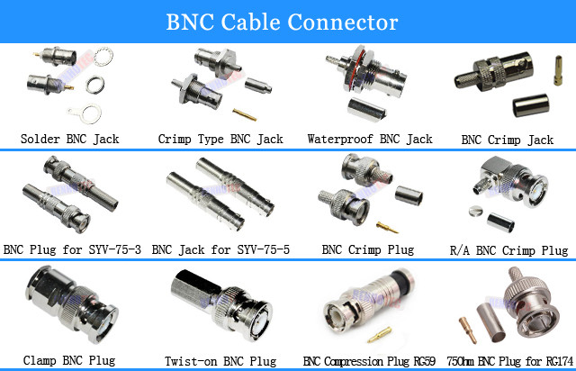 Cctv Security Camera Rf Male Bnc Connector Buy Bnc