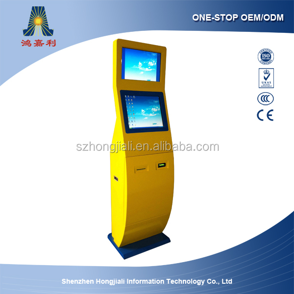 Self check-in payment kiosk/Card dispenser kiosk for hotel/Cash Payment for dispense card