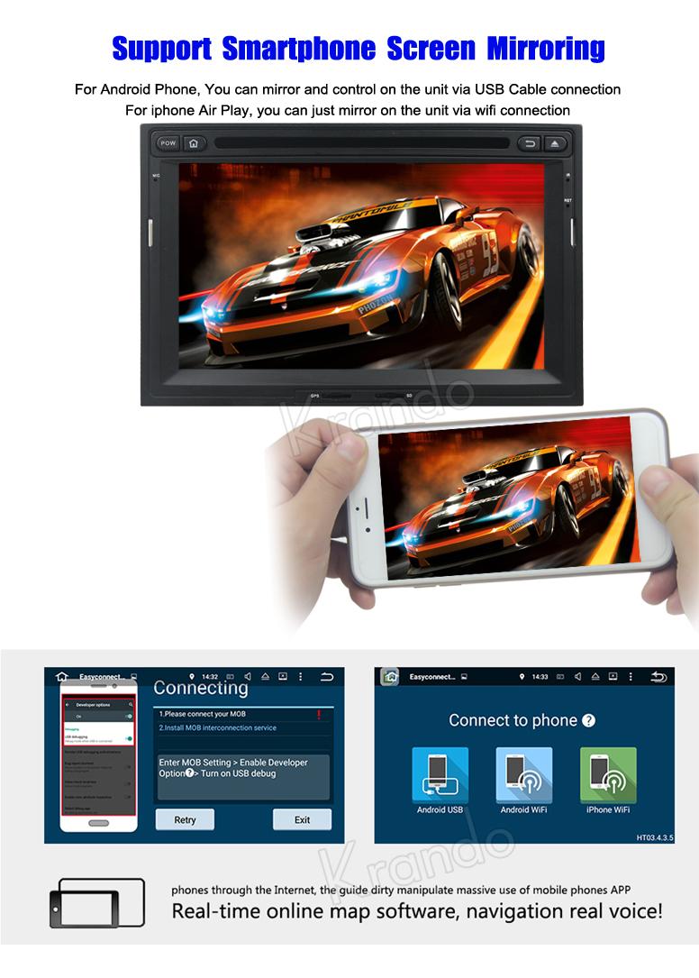 f3daedb477b1c9 Krando Android 7.1 rádio do carro de navegação para peugeot 3008 5008  2008-2012 para