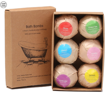 Wholesale Private Label 100g 6 pieces in a box  mix colors Bath Bombs