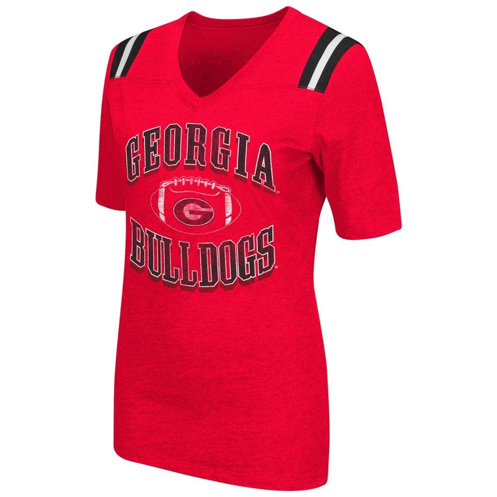 700ca432 Get Quotations · Ladies Georgia Bulldogs Red Artistic Short Sleeve T Shirt