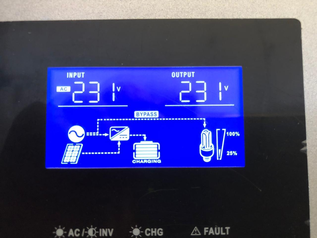 inverter working display