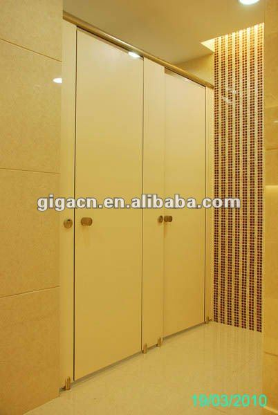 anti-corrosion hpl toilet partition with nylon accessories