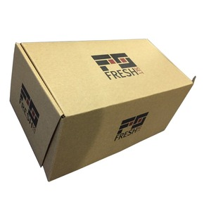 Nature brown standard custom corrugated packing box sizes with logo