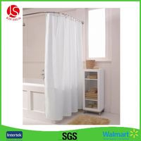 Mould Proof Waterproof white and black trellis design PEVA custom bath curtain printed PEVA clawfoot tub shower curtain