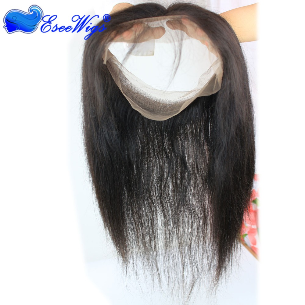 New Style 360 Lace Frontal Closure 22x4x2 Malaysian Virgin hair straight hair 360 lace frontal