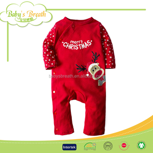 BCA14 Winter Cheap Baby Christmas Clothes 100% Cotton Baby Girl Clothes 3-6 months