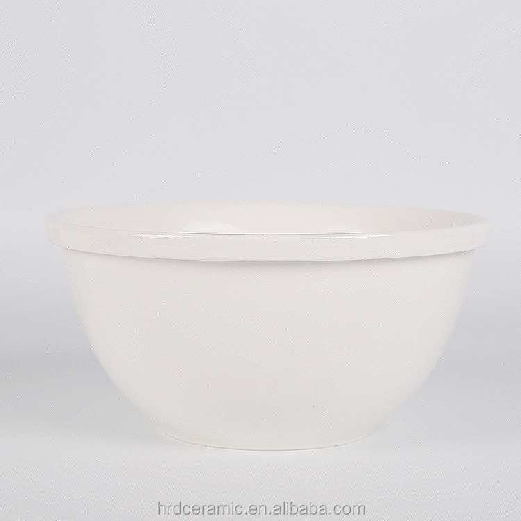1600ml White ceramic sala bowl