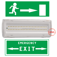 3w 4w rechargeable emergency exit led light with battery operated