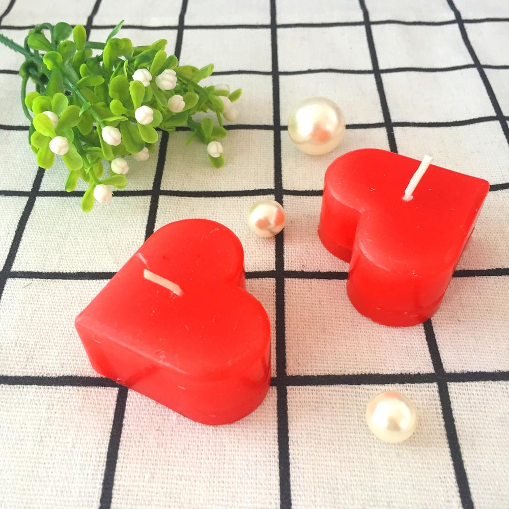 Heart Shape Valentine Day Gift Paraffin Wax Top Selling Pillar Candle
