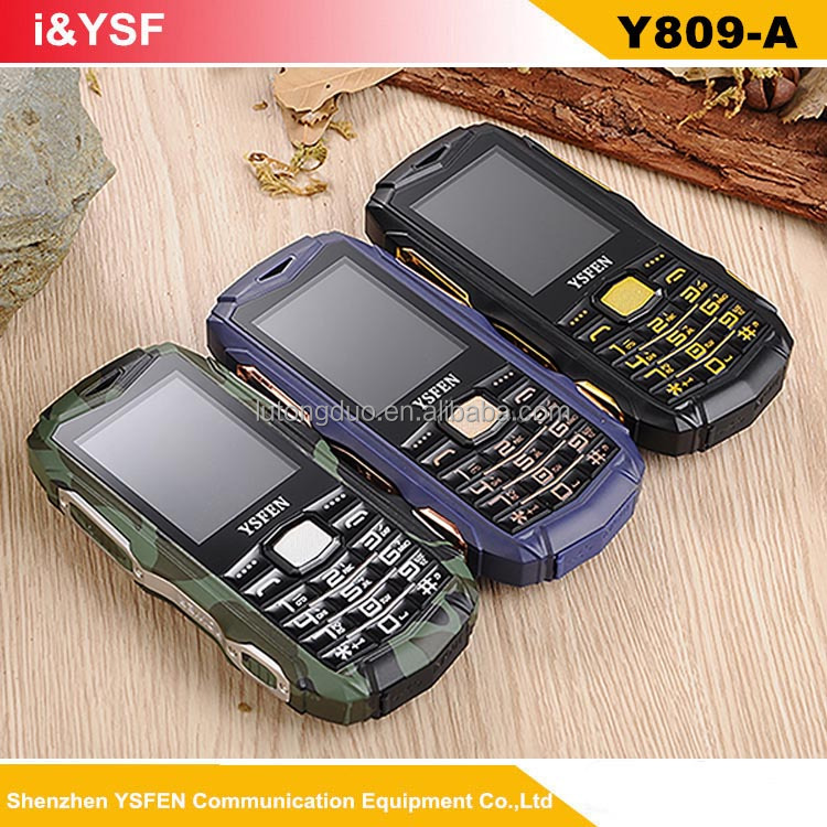 Three Sim cards waterproof IP68 unique shape mobile phone