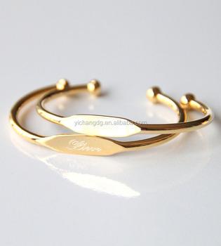5f6ee4d0f141a 2017 New Gold Bracelet Models Custom Engraved Cuff Bracelet Birth Names  Jewelry - Buy Engraved Bracelet,Name Jewelry,Cuff Bracelet Product on ...