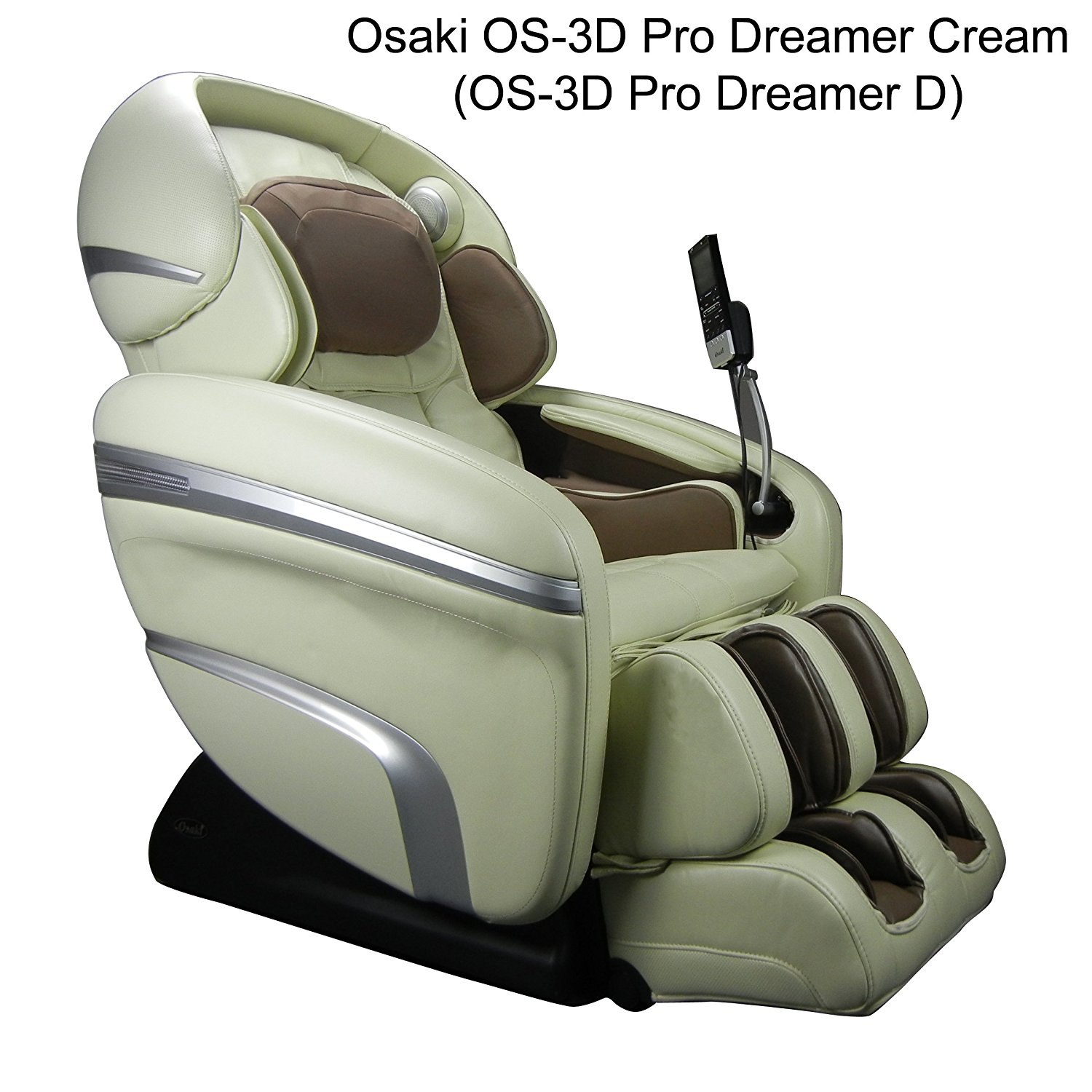 Osaki OS-3D Pro Dreamer D Model OS-3D Pro Dreamer Zero Gravity Massage Chair, Cream, Large LCD Display, 3D Massage Technology, 2 Stage Zero Gravity, 2nd Generation S-Track, Accupoint Technology