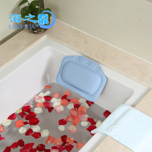 New Fashion Plastic Inflatable Spa Wedge Bath Pillow