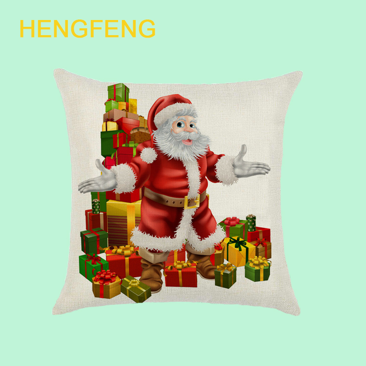 Top selling shaoxing Fashion Christmas Decorative Throw Cushion Cotton Linen Cushions/pillows