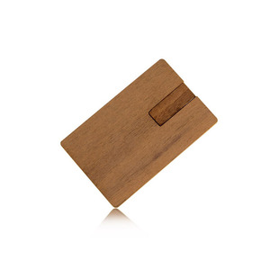 eco-friendly promotion gifts wood card 64g usb flash drives passing h2 test