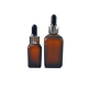 essential oil square shape amber clear colors glass dropper bottle with cap